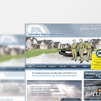 Bespoke Web Design for National Foreclosure Squad