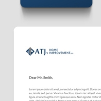 Identity and Brand Design for ATJ's Home Improvement