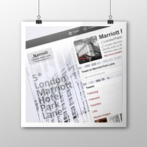 Collateral Design for London Marriott Hotel