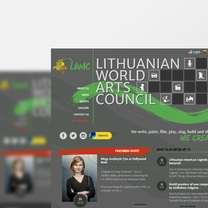 Bespoke Web Design for Lithuanian World Arts Council