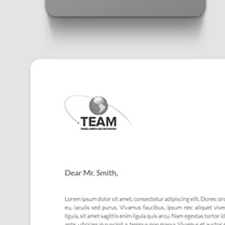 Branding and identity design for The Team Group