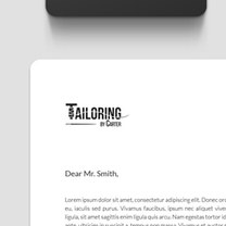 Identity and Brand Design for Tailoring by Carter