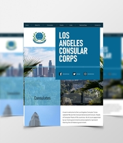 Bespoke Web Design for Los Angeles Consular Corps