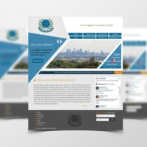 Alternative design for Los Angeles Consular Corps website. This design was not selected for the final project