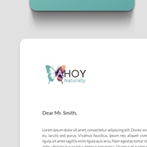 Identity and Brand Design for Ahoy Naturally