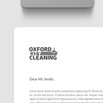 Branding and identity design for Oxford City Cleaning