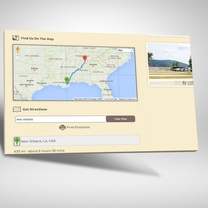 Integrated Google Maps allowing visitors to print turn by turn directions directly from the website