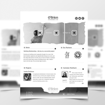 Alternative Web Design for O'Brien Interiors