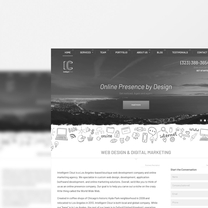 Bespoke website for Intelligent Clout